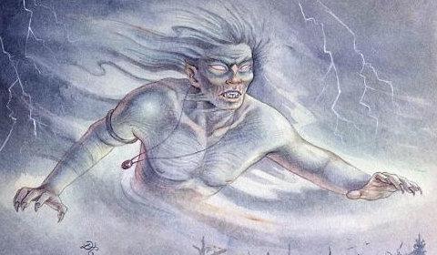"""Lo spirito del Gaki, che sembra aleggiare sulla casa del terzo racconto (""""LA CASA MALEDETTA"""")"""