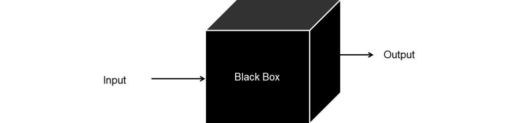 In una scatola nera si ignora il funzionamento interno.