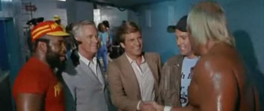 Hulk Hogan compare in un paio di episodi: fece da pacere tra Mr. T e Peppard.
