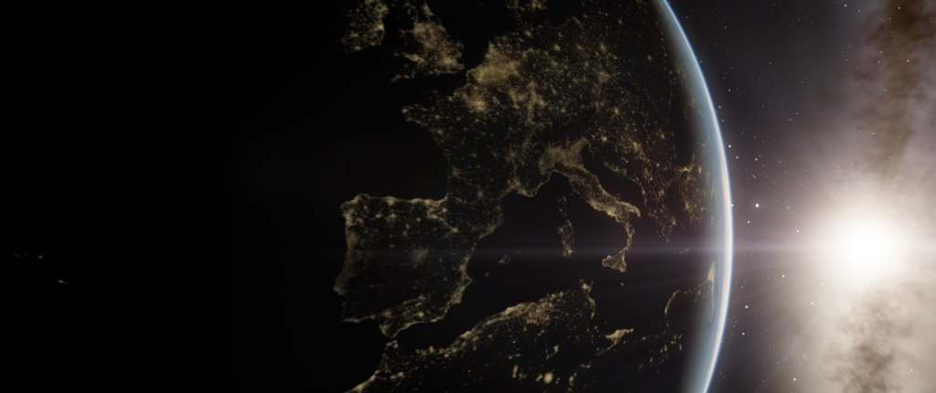 L'Italia vista dallo spazio.