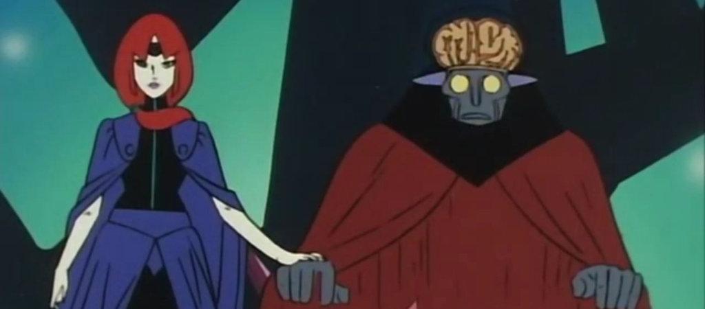 I due antagonisti a capo dei meganoidi: a sinistra Koros e a destra il loquace Don Zauker.