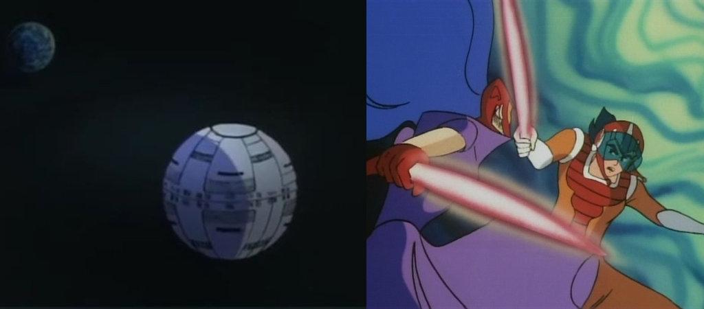 """La """"Stella della Morte"""" e le spade laser: chissà a cosa si saranno ispirati? ;)"""
