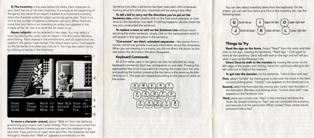 """Direttamente dalla Lucasfilm e Lucasarts, il manuale di """"Maniac Mansion""""!"""